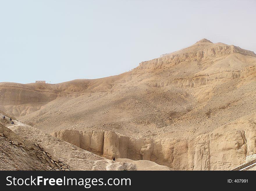 Karnak temple hills