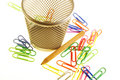 Free Paper Clips And Basket Stock Images - 4003524