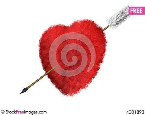 Free Fur Heart Is A Target Stock Photos - 4001893