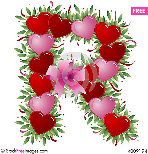 Letter R  Valentine Letter  Free Stock Images  Photos  4009194