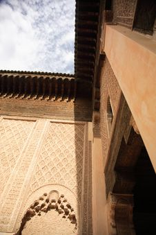 Walls Of A Moroccan Palace Royalty Free Stock Photography