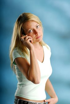 Free Phoning Woman Stock Images - 4001374
