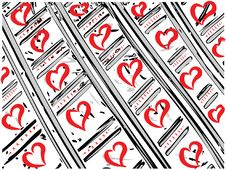 Free Vector Valentine Hearts Royalty Free Stock Image - 4001556