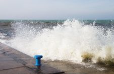 Rough Seas At The Channel Royalty Free Stock Photos