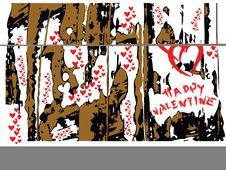 Free Vector Valentine Hearts Stock Images - 4001634
