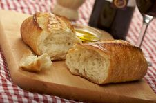Free Sourdough Bread On Cutting Board Stock Photos - 4001853