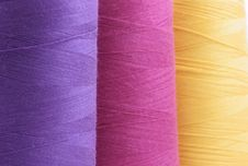 Free Colored Spools Of Thread Close-up Isolated Stock Photography - 4002122