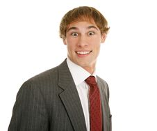 Young Businessman Surprised Royalty Free Stock Photography