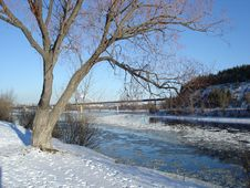 Free Winter River-side Scenic Royalty Free Stock Photo - 4002325