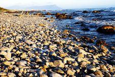 Free Rocky Beach At Sunset Stock Photo - 4002410