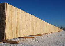 Free Fence From  Thewood Boards Stock Image - 4002511