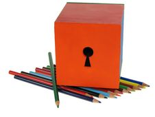 Free Wooden Crayon Royalty Free Stock Photography - 4002897