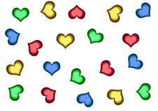 Free Background With Hearts Stock Photography - 4003122