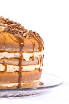 Free Pecan,caramel And Pumpkin Flavored Cake Stock Photo - 4004470