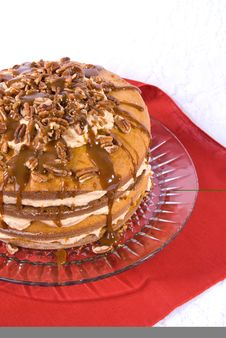 Free Pecan,caramel And Pumpkin Flavored Cake Royalty Free Stock Images - 4004519