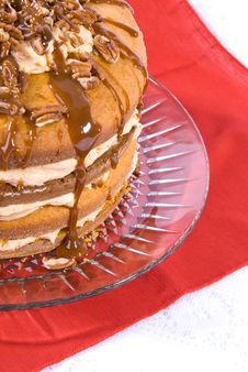Free Pecan,caramel And Pumpkin Flavored Cake Royalty Free Stock Images - 4004529