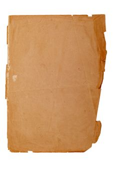 Free Old Yellowed Sheet Of Paper Royalty Free Stock Images - 4004539