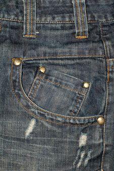 Free Jeans Pocket Close Up Stock Photos - 4004723