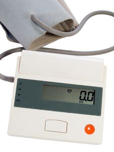 Blood Pressure Measuring Instrument Royalty Free Stock Images