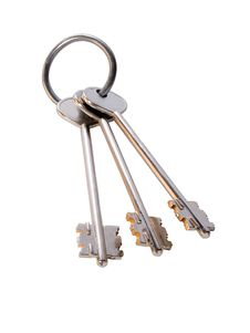 Free Bunch Of Golden Keys On The Ring Royalty Free Stock Images - 4005369