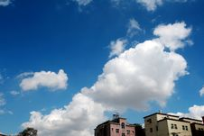 Free Blue Sky With White Clouds Royalty Free Stock Image - 4005436