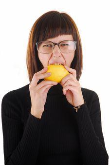 Free Woman And Lemon 2 Stock Photo - 4005660