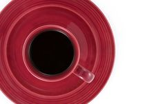 Free Maroon Coffee Cup From Above Stock Photo - 4005830