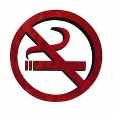 Free 3D No Smoking Royalty Free Stock Photography - 4005877