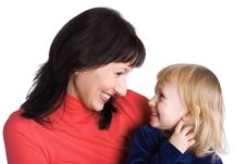 Free Mother And The Daughter Rejoice Together Royalty Free Stock Photos - 4006008