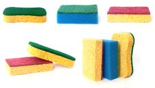 Free Set Of Sponges Royalty Free Stock Photography - 4006207