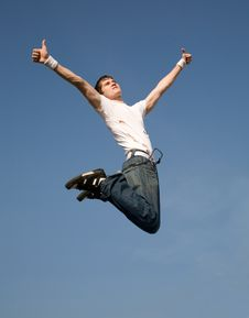 Free Flying Man Royalty Free Stock Photo - 4006815