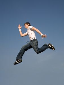 Free Flying Man Stock Photography - 4006852