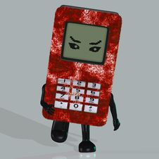 Cartoon Cell Phone Royalty Free Stock Images
