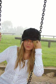 Free Beautiful Girl At The Park Royalty Free Stock Photos - 4007218