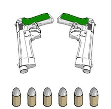 Free Guns With Ammunition Royalty Free Stock Photography - 4007297
