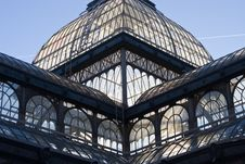 Retiro Glasshouse Royalty Free Stock Photos