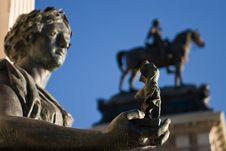 Retiro Statues Royalty Free Stock Image
