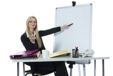 Free Business Woman  Working Royalty Free Stock Photos - 4007728