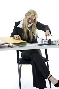Free Bussines Woman  Working Stock Photo - 4007750