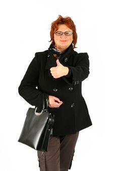 Free Businesswoman Ok Royalty Free Stock Photos - 4008238