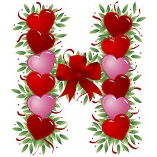 Letter H - Valentine Letter Stock Photos