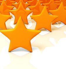 Free Yellow Stars Massive On White Background Stock Image - 4008561