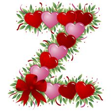 Free Letter Z - Valentine Letter Stock Images - 4009714