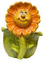 Free Ceramic Ornamental Flowerpot With Smiling Sun Royalty Free Stock Photography - 4015597