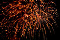 Free Orange Fireworks With Sparks Royalty Free Stock Image - 4016256