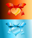 Free Hearts On Colored Background For Valentine Day Royalty Free Stock Photo - 4019395