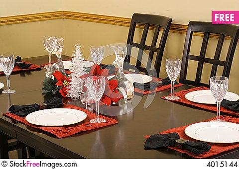 Elegant crystal dining table setting & Elegant Crystal Dining Table Setting - Free Stock Images \u0026 Photos ...