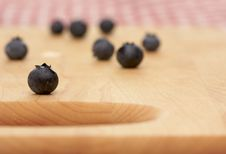 Free Blueberries On A Cutting Board Stock Photo - 4010540