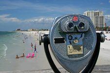 Free Beach Telescope Royalty Free Stock Photo - 4010705