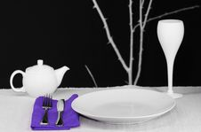 Free Table Set For One Stock Photography - 4010972